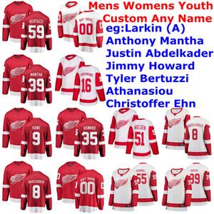 Detroit Red Wings maglie delle donne di Alex Biega Jersey Filip Zadina Madison Bowey Dennis Cholowski Trevor Daley Hockey pullover su ordinazione cucita