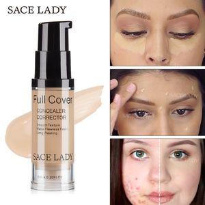 Sace Lady Corretivo fosco Creme Cobertura Completa de Maquiagem Corrector Líquido Base de Fundação Make Up For Eye Círculos Escuros Cosméticos Facial
