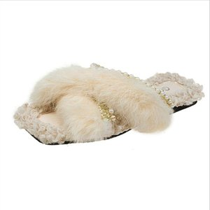 Slippers for women wear 2020 new Korean fashion wool slippers for women comfortable cross style sandals