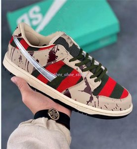 New 2020 SB Zoom Dunk Low PRO xshfbcl Freddy Krueger Fashion Running Shoes For Men Women Dunks Skateboarding Casual Designer Sports Sneakers