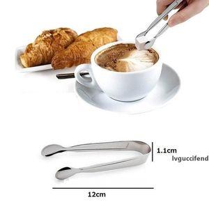 مصغرة الجليد المشبك الفولاذ المقاوم للصدأ القهوة السكر الملاقط شريط الأدوات شوى BBQ كليب مكملات مطابخ المحمولة ZA0795 بالجملة