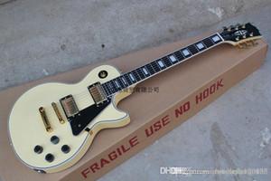 Free shipping high quality Mahogany body LP Custom ebony fingerboard RANDY RHOADS signature yellow electric guitar