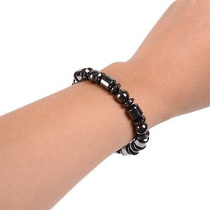 New 1X perda de peso Rodada Black Stone Therapy Magnetic Bracelet Saúde Winn Pulseira com ímãs New Design de Moda