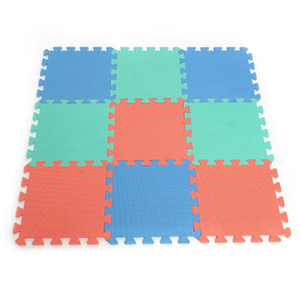 3 Color 9pcs 28.5*28.5*0.7CM EVA Soft Foam Interlocking Exercise Gym Floor Play Mats Rug Protective Tile Flooring Carpet