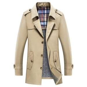 Mens Trench Coats Inverno Engrosse Trench Jacket Blazer Business casual Blusão Casacos Jacket Roupa Plus Size Masculino