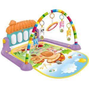 Baby Gym Tapis Puzzle Mat educativi Rack Giocattolo del bambino Musica Mat Gioca Con tastiera di piano Infant fitness Carpet regalo per i bambini
