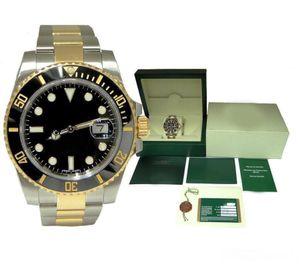 Mit Box Mannuhr 40mm 116610 mechanische Automatik-Uhr Keramik-Lünette Saphir Glide Uhren Schnalle 2813 Bewegung Armbanduhr Uhren