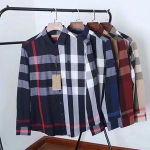 M-4XL dos homens do desenhista vestido camisas de Luxo shirts Abelhas Moda bordado manga comprida camisas de vestido clássico marca Vire partes superiores para baixo do pescoço Negócios