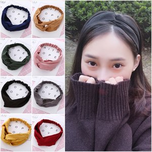 Women Spring Suede Headband Vintage Cross Knot Elastic Hair bands Soft Solid Color Ladies Girls Hairband Hair Accessories Z0860
