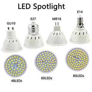 Lâmpada LED Spotlight E27 E14 MR16 GU10 Base 120 ° Bulbo de Ângulo de 120 ° Bulbo 48 60 80leds para Accent Light Track Light Kitchen Home