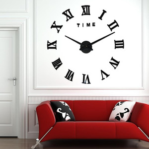 3D Real Big Wall Clock Rushed Mirror Wall Sticker Diy Living Room Home Decor Fashion Watches Arrival Quartz Large Wall Clocks 6 Y200109