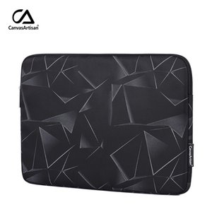 Triangle geometry bag Dell laptop bag MacBook Laptop Bag Large Capacity Black Waterproof