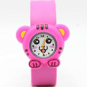 Kids Slap Watch Silicone Strap Quartz Wristwatch Tiger Sport Children Watch Cute Clock Beautifully Creative Baby Boy Girl 3D Cartoon Watch