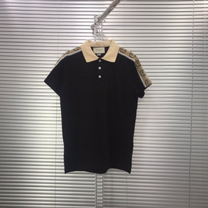Asiático de alta calidad estilo sencillo y de gran tamaño de los hombres primavera y el verano la ropa de moda casual costura mezcla con mayor polo de algodón silvestre