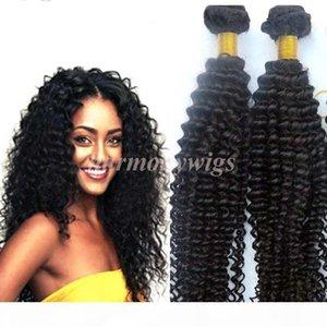 Mink Virgin Hair Extensions brasilianisches Haar-Bundles Versaute Curly Tressen Rohboden peruanischen indischen Malaysian mongolische Haar Weaves Großhändler