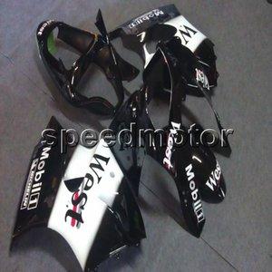 Botls + Gifts Molde de inyección capucha de motocicleta negro oeste para Kawasaki ZX6R 2000-2002 636 ZZR600 05-08 Paneles de motor ABS