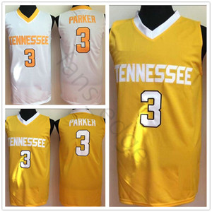 NCAA Tennessee Volunteers #3 Candace Parker College Basketball Jersey Yellow Stitched Candace Parker University Jerseys Shirts S-XXL