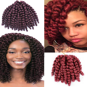 5 пачек 8-дюймовые ямайские прыгающие крючки для волос от кудрявых волос синтетические косички для волос 8 дюймов 20 прядей / пачка афро странные плетеные волосы