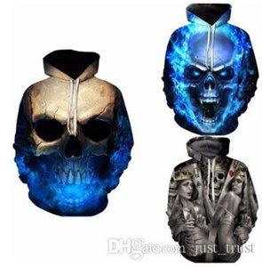 Hot 3D Creative Skull Dragon Ball Printed men hoodies Punk boy streetwear boardwear men's sweatshirts swag men pullover