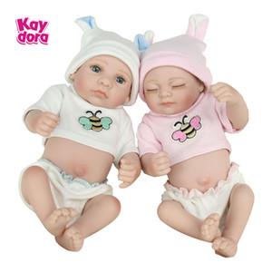 Twins bambino Reborn bambole da 10 pollici 25 centimetri del silicone pieno corpo Mini Alive Bambino Bath Gioca giocattoli Ragazza lol Bebe Boneca Bee Bambini Playmate Y200111