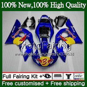 Kit Pour YAMAHA YZF R6 98 YZF600 Jaune rouge YZFR6 98 99 00 00 02 02 88MF17 YZF 600 YZF-R600 YZF-R6 1998 1999 2000 2001 2002 Carrosserie Carénage