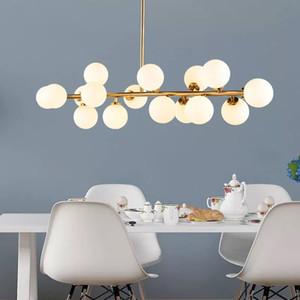 ДНК стеклянный шар молекулярная привели люстру Современной минималистского столовой лампа исследование Нордик творческой спальня гостиной современного освещение L12