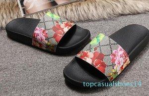 Europ Lüks Slayt Yaz Moda Geniş Düz Kaygan ile Kalın Sandalet Terlik Bay Bayan Sandalet Tasarımcı Ayakkabı Terlikler Slipper36-45 t14