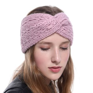 Winter Ear Warmer Headban Women Fashion Weave Elastic Wool Knitted Headband Head Wrap Hairband Girls Elegant Hair Accessories