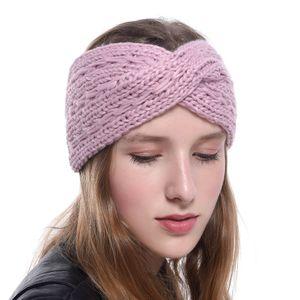 Orelha inverno mais quente Headban Mulheres Moda Weave elástica de malha de lã com alça Envoltório principal hairband meninas elegantes acessórios de cabelo