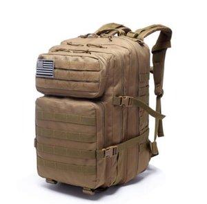 Zaini tattici militari dell'esercito di grande capacità 45L Borse d'assalto militari 3P EDC Molle Pack per borsa da caccia da campeggio trekking