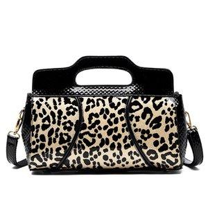 2020 Damen Leopard Pantent Leder Handtaschen Frauen DesignerB bolsa Feminina Messenger Bags Zipper Schultertasche Sac Haupt Femme