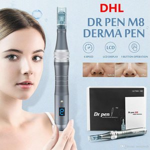 Stock!!! Electric Dermapen Auto Stamp Dr Pen M8-C W Derma Pen Rechargeable Wireless Microneedle Cartridge Tips MTS PMU Skin Care Beauty