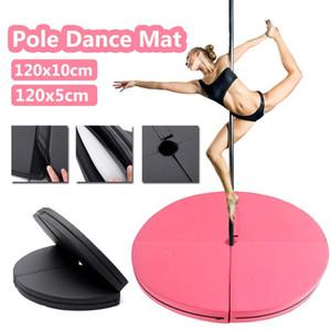 120x10cm PU Pole Dance Mat Skid prueba de aptitud Yoga alfombrillas redondo impermeable espesado danza Colchoneta de ejercicio plegable de seguridad Gimnasio