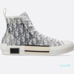 ÇİÇEKLER TEKNİK CANVAS YÜKSEK TOP SNEAKERS Erkek Üst Kalite Tasarımcı Ayakkabı Kutusu LLL42 CC4 ile PVC Malzemelerle Bayan Lace Up Sneakers