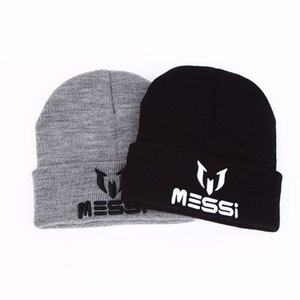 TUNICA New Soccer Messi Fans Hat women Men Skullies Black Gray Women Beanie Whiter Hats Beanies Warm Knitted Hat Wool Cap Gorros