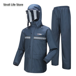 Electric Motorcycle Raincoat Waterproof Suit Rain Coat Jacket Men Riding Rain Pants Set Double Thickened Mens Sports Suits