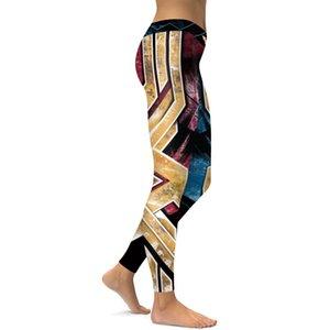 Frauen-Gamaschen Sport Wonder Woman Cosplay Druck Hosen elastische hohe Taille Gym Leggings Schlank Laufhose Fitness eng für Yoga