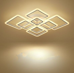 Yeni Tasarımlar Kare Yüzük Avizeler Aydınlatma Modern LED Luster De Tavan Modern Yaratıcı Ev Dekorasyonu Tavan Lambaları Işıklar Avize Armatür