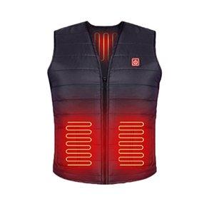 Lavable USB al aire libre eléctrico infrarrojo calefacción chalecos chaquetas impermeables Hombres Mujeres caliente del invierno de ropa térmica motocicleta del esquí