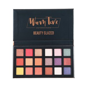 Beauty Glazed Warm Tone 18 Color Eyeshadow Pigment Matter Glitter Pearlescent Wholesell Makeup High Pigment Eyeshadow Palette