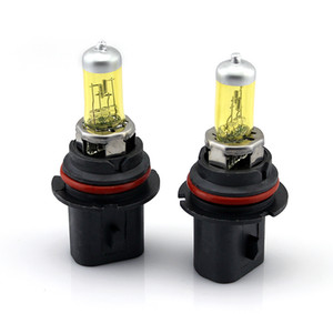 2PCS 9007 100W XENON Yellow Halogen Car Headlight Bulbs 3000K