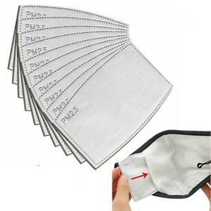 Austauschbare 5 Ply PM2.5 Filter-Auflage für Gesichtsmaske mit Aktivkohle Staub PM 2.5 Filter Luftschutzmaskenfilter