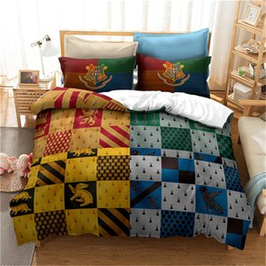 2020 New Badge Bedding Sets 3D Printing Harry Potter Classic Duvet Cover Queen King Twin Full Double Single Bed Cover with Pillowcase HP-5