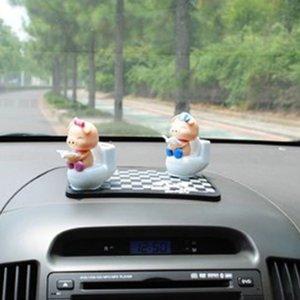 Porcelet lecture sur Toilet Bowl Pig solaire Toy Dashboard Décor du foyer Ornement