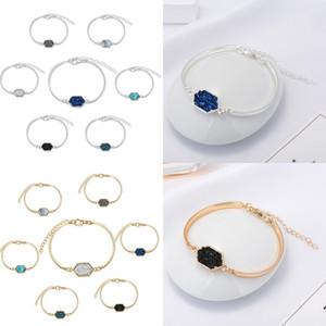 Nouveau DESIGNER Drusy Bracelets Bangles chaud Kendra or plaqué argent pierre géométrie bracelet scott pour les femmes marque de bijoux