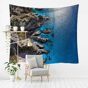 Summer Beach Tropical Imprimer Tapestry Palm Tenture Palmier Tapis Surf Tenture murale Maison de vacances Bureau Décoration 2 tailles