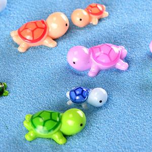 Artificial tortuga linda tortuga Animal Hada del jardín miniaturas Gnomos musgo terrarios de resina artesanal figurines para decoración de jardín aC BH3138