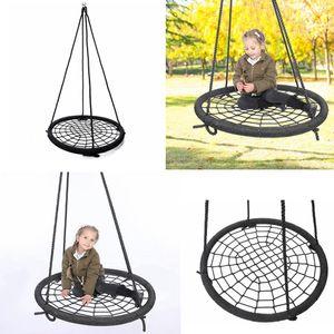الطيور الأطفال عش أرجوحة في الهواء الطلق أرجوحة الأطفال اللعب في الأماكن المغلقة كرسي شنقا صافي حبل النسيج لعبة مقعد الأطفال FFA4173