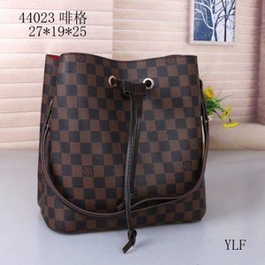 HOTlvLOUISVUITTONluxury real Leather tote Handbag Brown MONOGRAM totes Printing Purse Womens Fashion Shoulder bags 88897