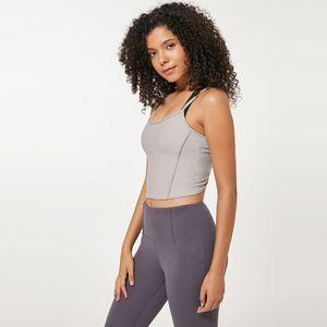 Fashion Übung Yoga Sling Camis 4 Farben Feine Schultergurte Bulift Fitness Workout-Weste-Spitze Damen Jogging Tanks Kleidung 34 ml E19
